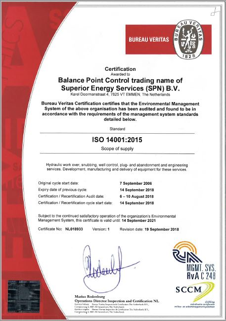 ISO-14001 Superior Energy Services (SPN)